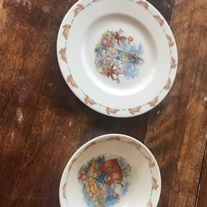 Royal Dalton Bunnykins plate and bowl